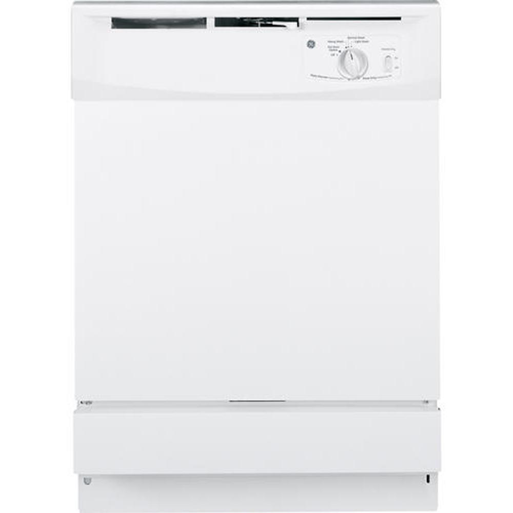 GE Front Control Dishwasher in White, 64 dBA