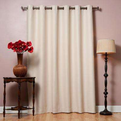 80 in. W x 96 in. L Beige Wide Flame Retardant Blackout Curtain Panel