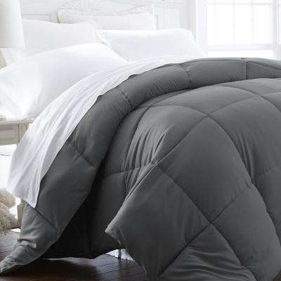 Performance Gray King Down Alternative Comforter