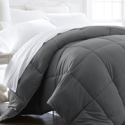 Performance Gray Solid Queen Comforter