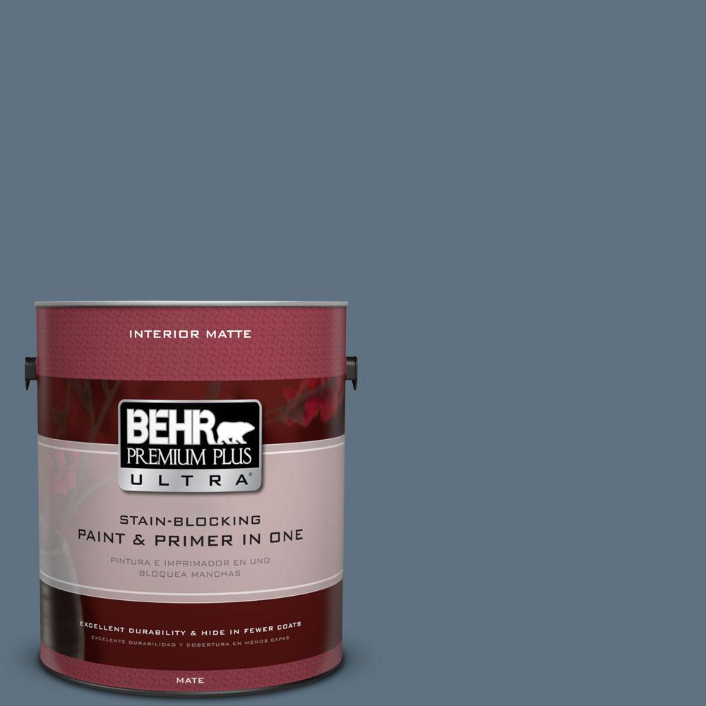 BEHR Premium Plus Ultra 1 gal. #560F-6 Windsor Haze Flat/Matte Interior Paint