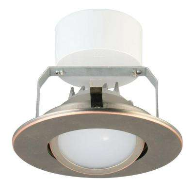 4 in. Oil Rubbed Bronze Recessed Gimbal LED Module (3000K)