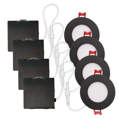 3 in. Oil Rubbed Bronze Ultra Slim Integrated LED Recessed Lighting Kit
