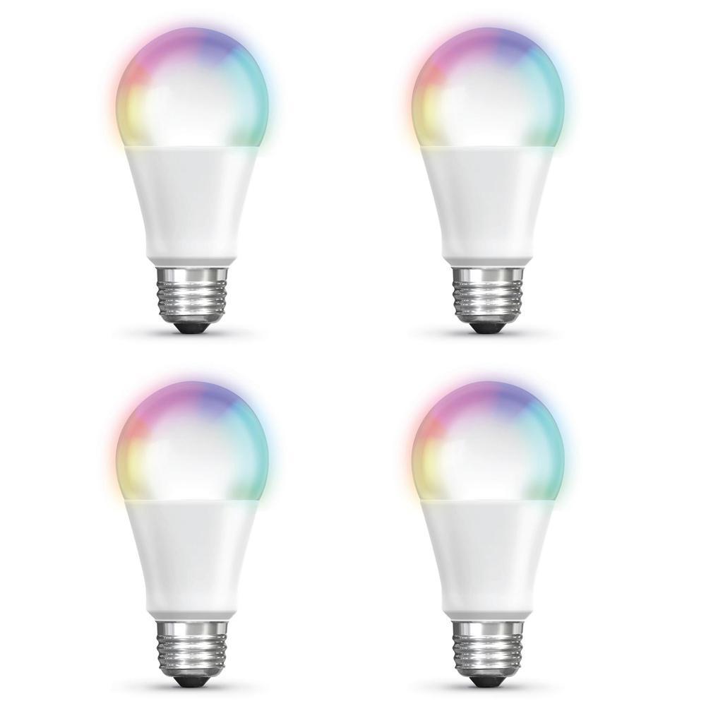 Philips Hue White A19 4-Pk 60W Equivalent Dimmable LED Smart Bulb Alexa HomeKit
