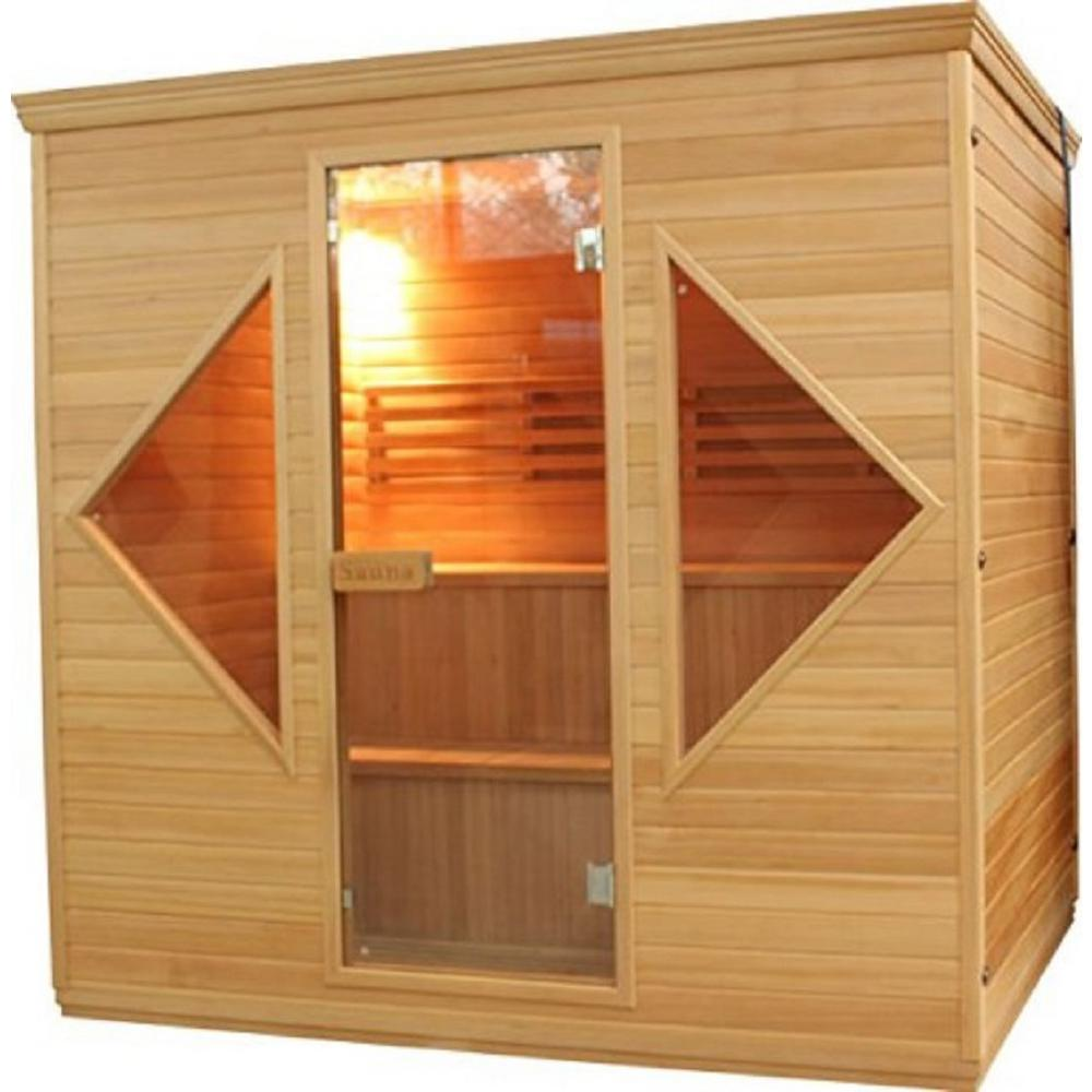 5-Person Canadian Hemlock Electric Heater Sauna