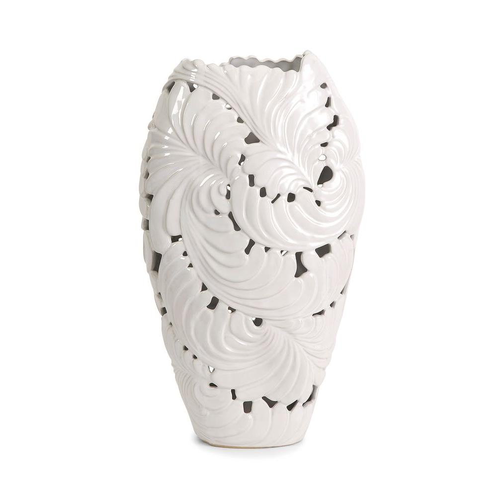 Filament Design Lenor 16.5 in. Ceramic Decorative Vase in White