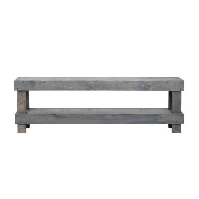 Rustic Gray Contemporary Farmhouse Solid Wood Bench Large