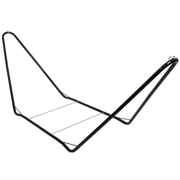Portable 10 ft. Steel Hammock Stand in Black