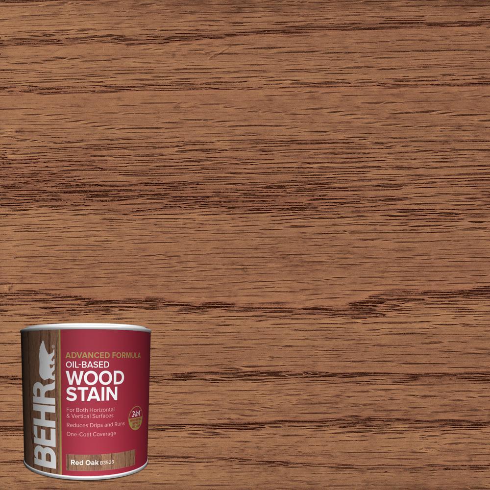 8 oz. #TIS-528 Red Oak Transparent Oil-Based Advanced Formula Interior Wood Stain