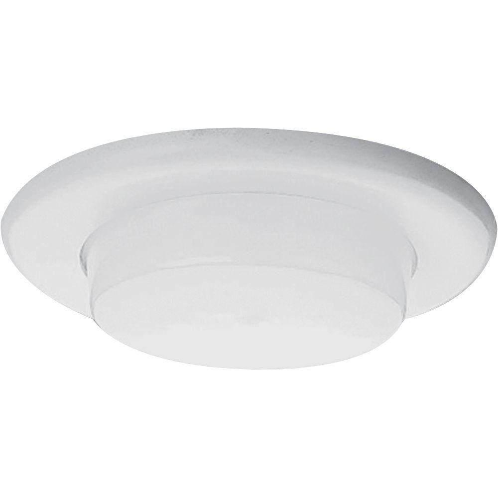 Progress Lighting 6 In White Recessed Drop Opal Shower Trim