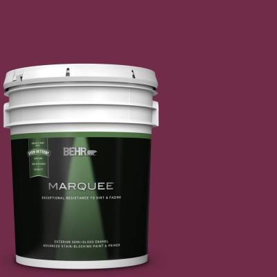 Behr Premium Plus 5 Gal Icc 110 Vintage Merlot Semi Gloss Enamel Exterior Paint And Primer In One 534005 The Home Depot