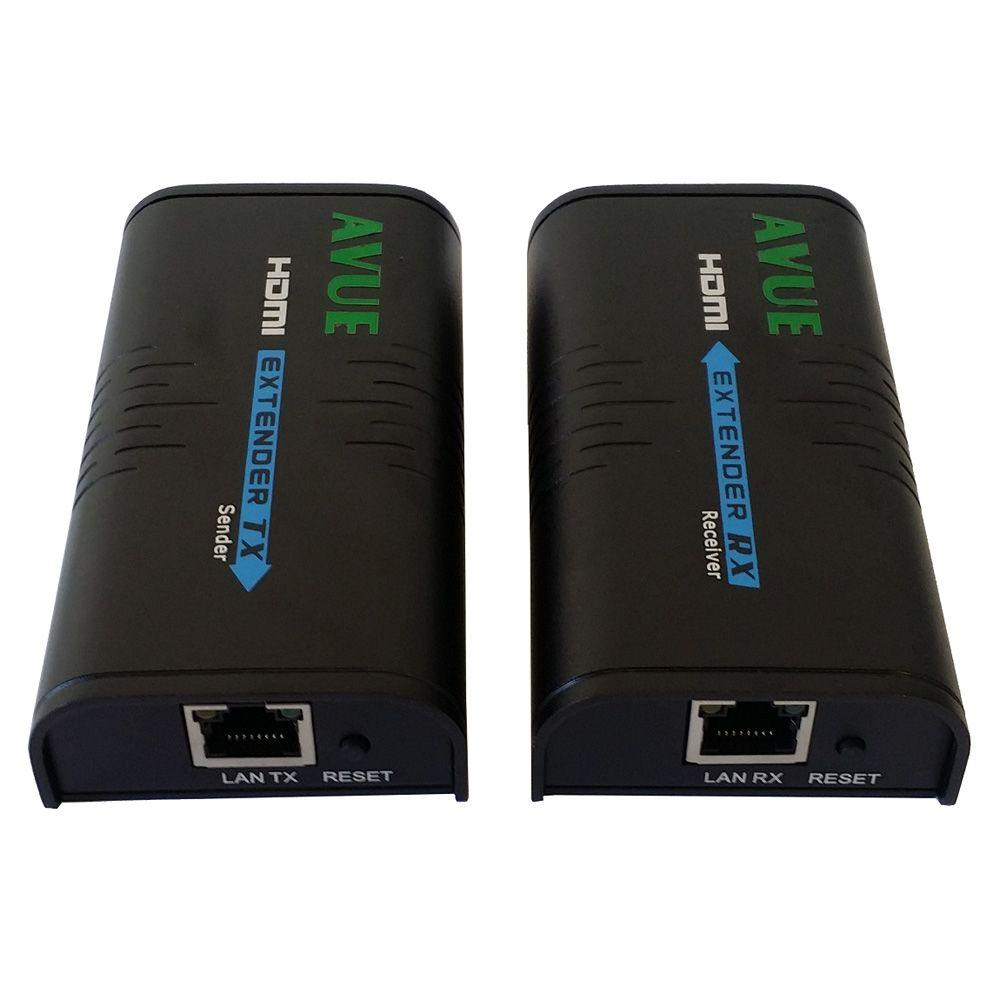 Hdmi-EC300 Hdmi Extender The HDMI-EC300 HDMI Extender transmits your video/audio a distance up to 400 ft. for 1080p over a single CAT5e/6 cable. It supports resolution up to 1080P Full HD. With Cat5e/6 cable, users can readily extend HDTV sources from DVD players, Blu-ray Disc player, PC, and any other kinds of sources compliant with TMDS to remote display monitors or LCD PC monitors. The HDMI-EC300 comes with two units: a HDMI sender unit and an HDMI receiver unit. The sender unit is used to capture the input HDMI signals and it carries the signals through one RJ45 connector into Cat5e/6 cable. The receiver unit is responsible for equalizing the transmitted HDMI signal.