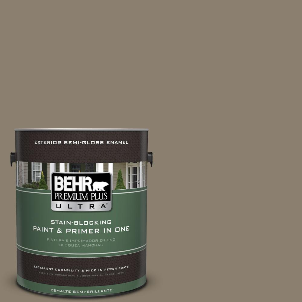 BEHR Premium Plus Ultra 1-gal. #720D-5 Mocha Accent Semi-Gloss Enamel Exterior Paint