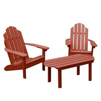 Classic Westport Rustic Red 3-Piece Recycled Plastic Outdoor Conversation Set