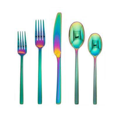 Beacon Rainbow Mirror 20-Piece Flatware Set