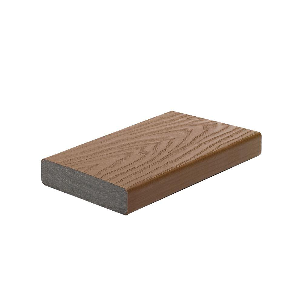 Trex select 2 in x 5 1 2 in x 12 ft saddle square edge for Capped composite decking