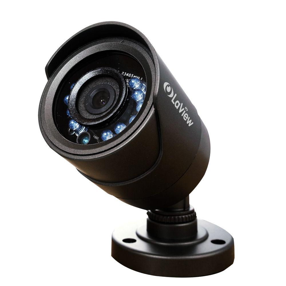 LaView Wired 600 TVL Indoor/Outdoor Bullet Security Camera with 65 ft. Night Vision