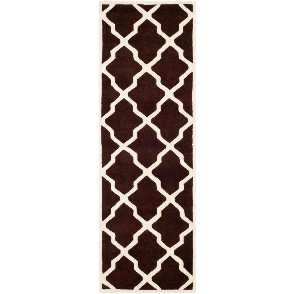 Chatham Dark Brown/Ivory 2 ft. 3 in. x 9 ft. Runner