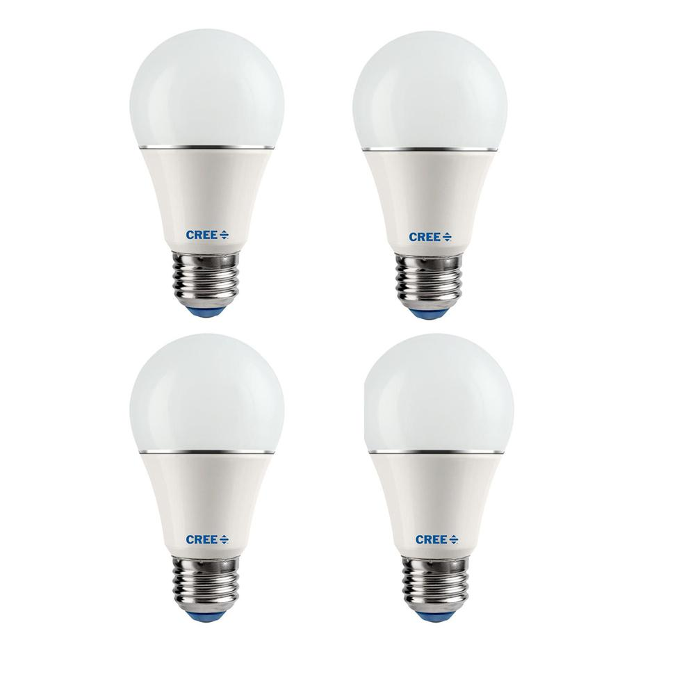 Cree 40W Equivalent Soft White (2700K) A19 Dimmable LED Light Bulb (4-Pack)