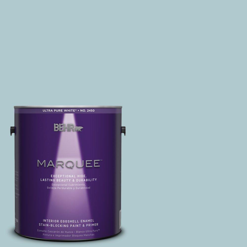 BEHR MARQUEE 1-gal. #HDC-SM14-8 Floating Blue Eggshell Enamel Interior Paint