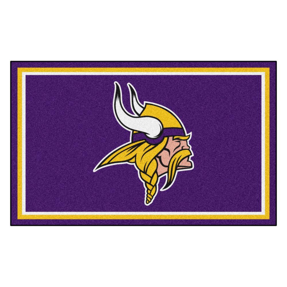 Minnesota Vikings 4 ft. x 6 ft. Area Rug