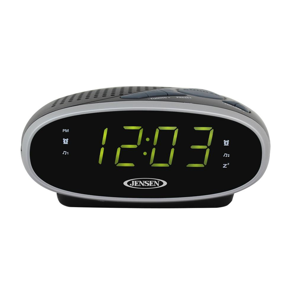 JENSEN Alarm and Clock Radios AM/FM Alarm Clock Radio Blacks JCR-175