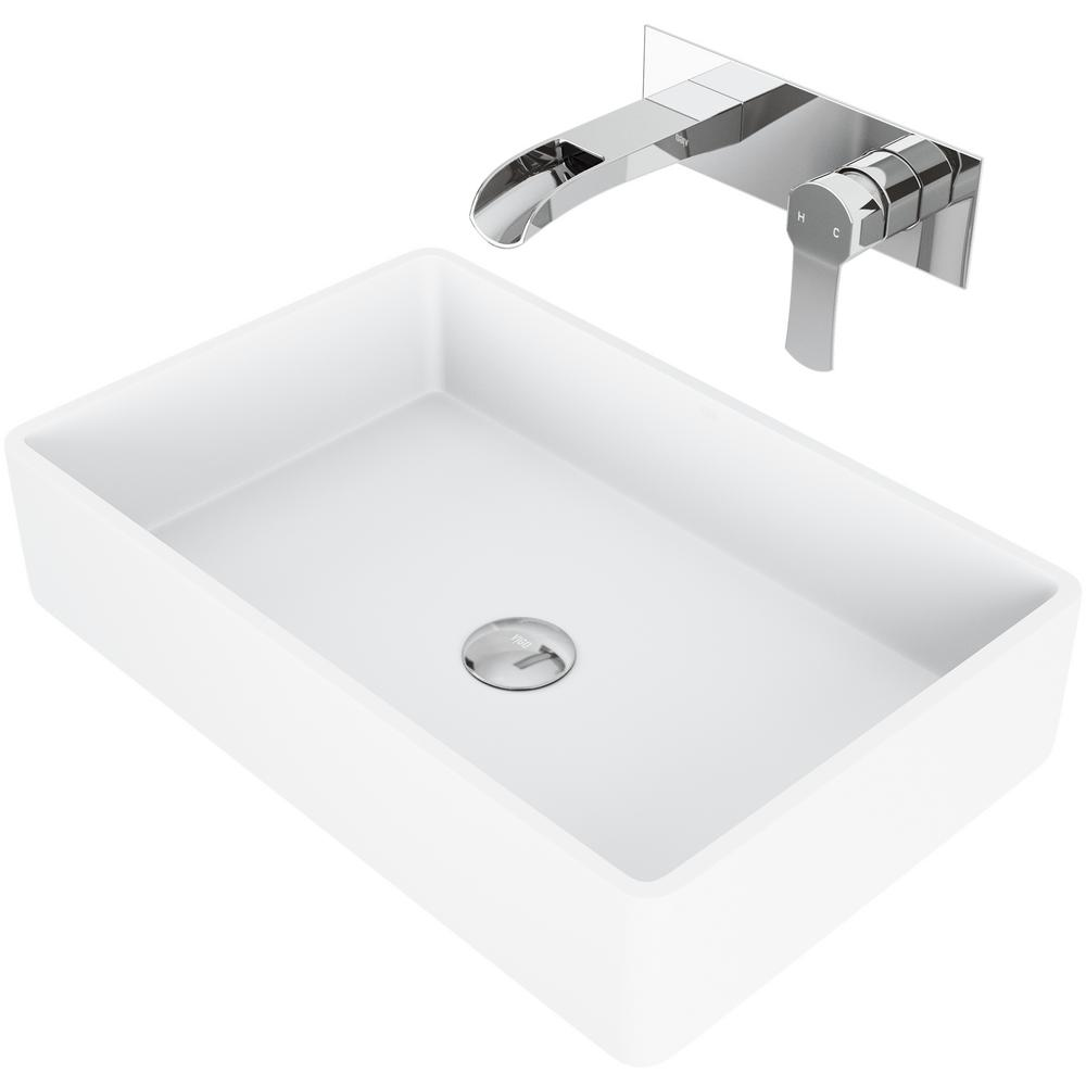 vigo magnolia matte stone vessel bathroom sink set with cornelius rh homedepot com bathroom sink storage units bathroom sink strainer
