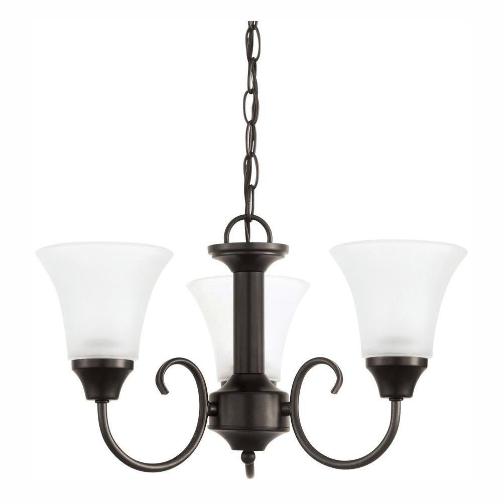 Holman 3-Light Heirloom Bronze Chandelier with LED Bulbs