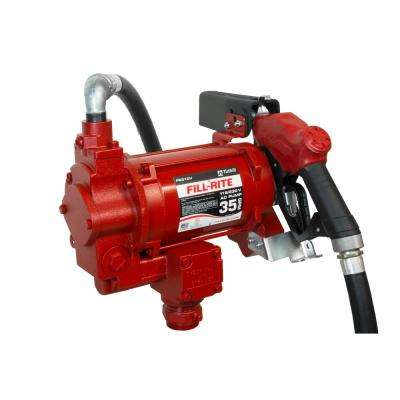 FILL-RITE 230-Volt 3/4 HP 35 GPM Fuel Transfer Pump with Discharge Hose and Automatic Nozzle