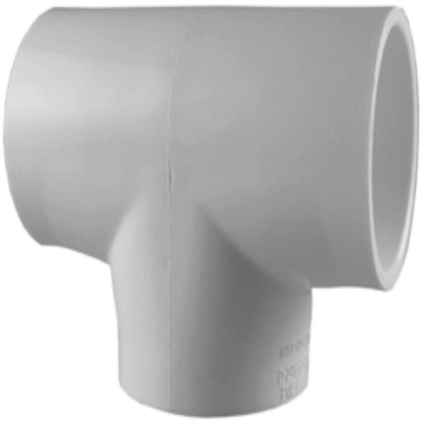 6 in. x 6 in. x 4 in. Schedule 40 PVC S x S x S Reducer Tee Fitting
