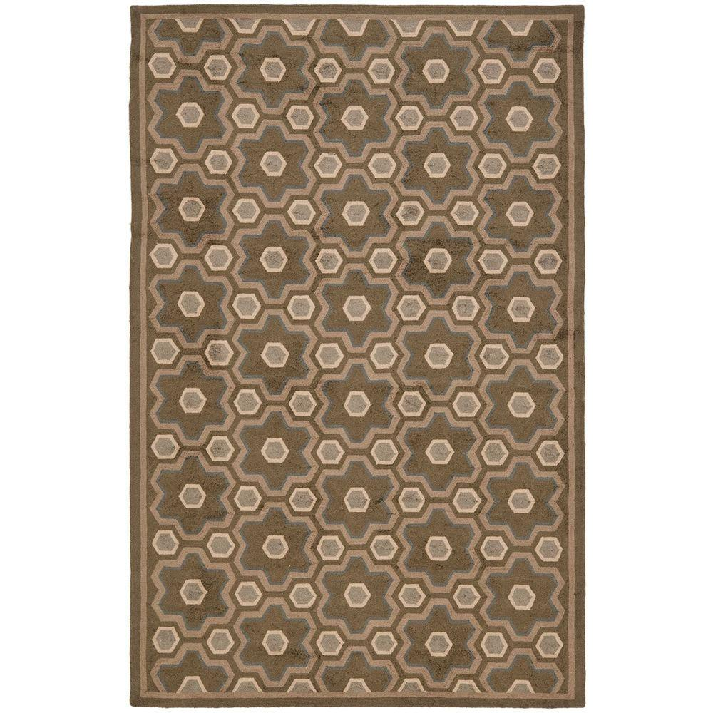 Safavieh Puzzle Molasses Brown 5 ft. 6 in. x 8 ft. 6 in. Area Rug