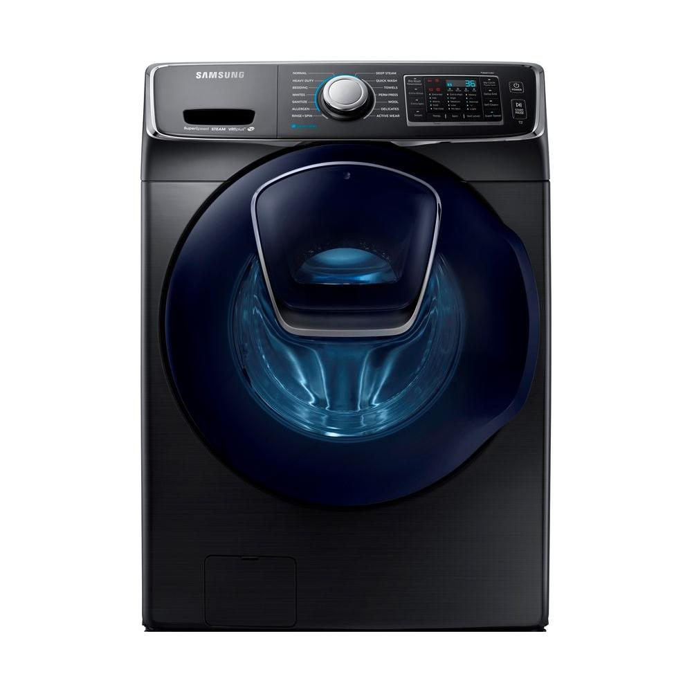 f540b344ed 4.5 cu. ft. High-Efficiency Front Load Washer with Steam and AddWash Door  in Black Stainless, ENERGY STAR