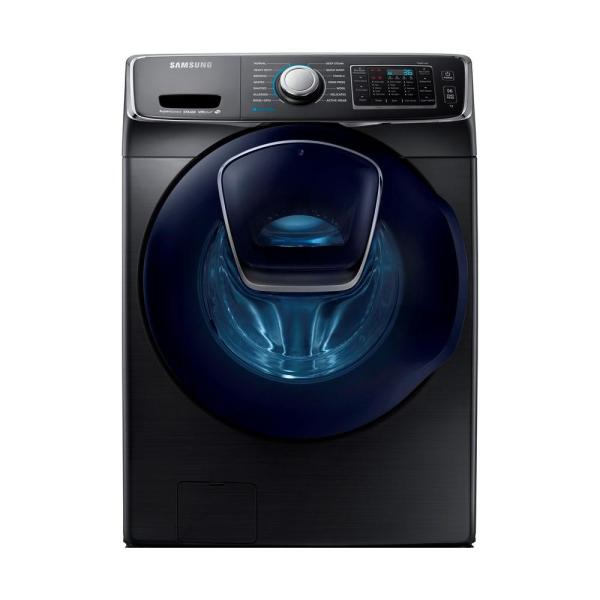 4.5 cu. ft. High-Efficiency Front Load Washer with Steam and AddWash Door in Black Stainless, ENERGY STAR