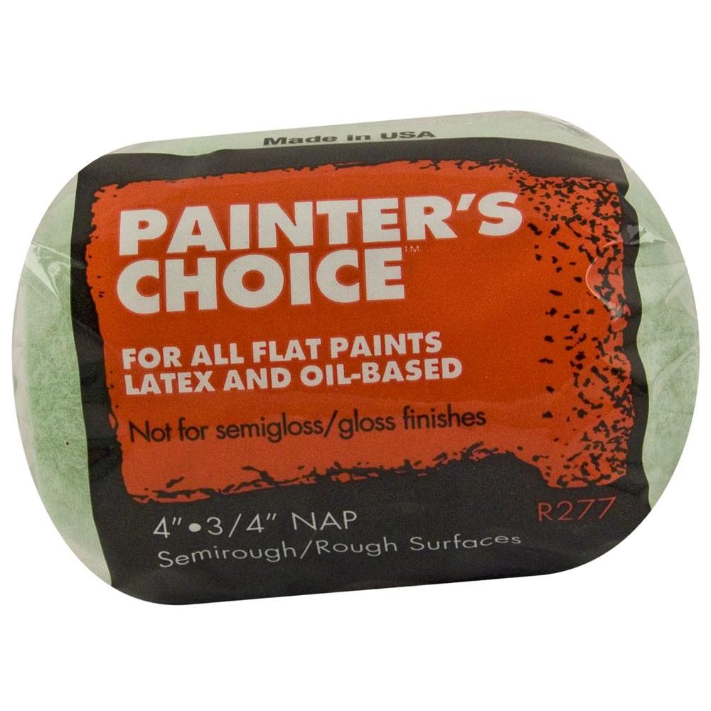 Wooster Painters Choice 4 in. x 3/4 in. Medium-Density Roller Cover