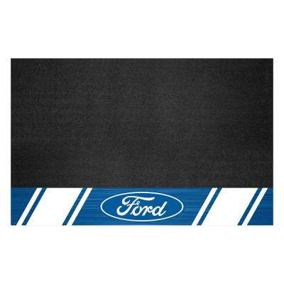 Ford - Ford Oval with Stripes 42 in. x 26 in. Vinyl Grill Mat