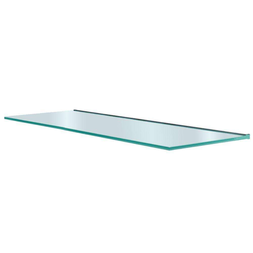 Glacier 36 in. x 12 in. Glass Shelf-GL9030OP - The Home Depot