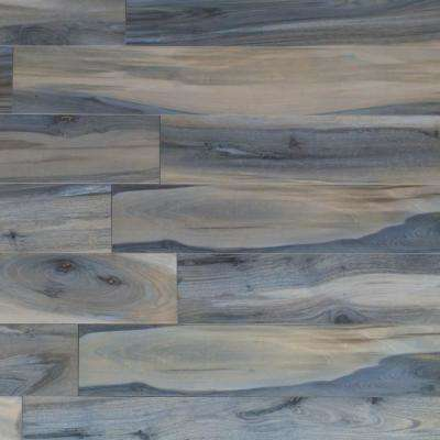 Rio Tiger Blue 8 in. x 48 in. 7.5mm Polished Porcelain Floor and Wall Tile (6-piece / 15.49 sq. ft. / box)