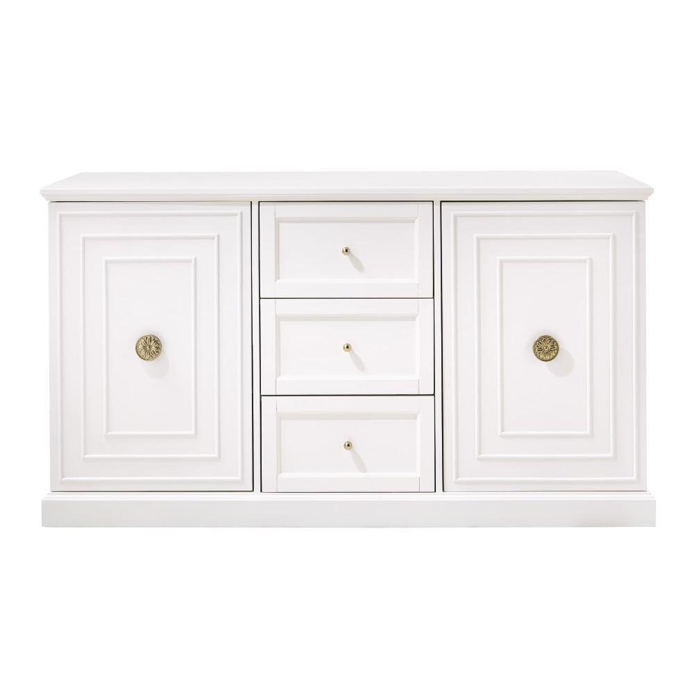 Cupertino 3-Drawer White Dresser