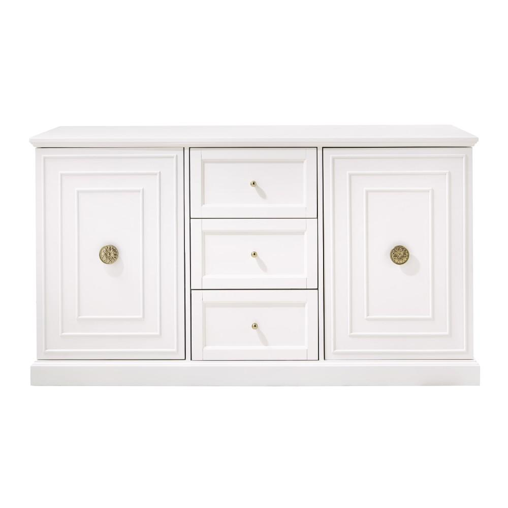 Home Decorators Collection Cupertino 3 Drawer White Dresser