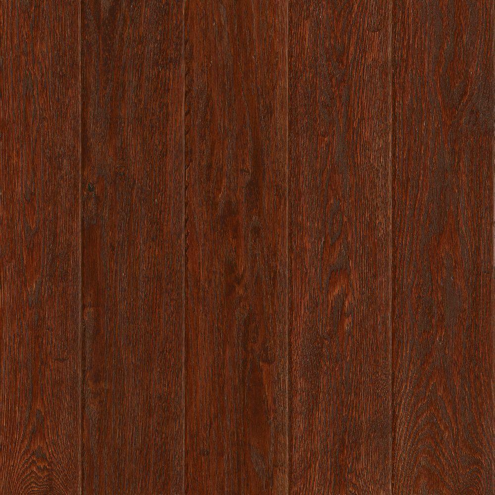American Vintage Scraped Black Cherry Oak 3/8 in. T x 5 in. W x Varying L Engineered Hardwood Flooring (25 sq.ft./case)