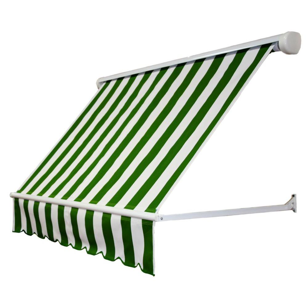 4 ft. Mesa Window Retractable Awning (24 in. Projection) in Forest/White