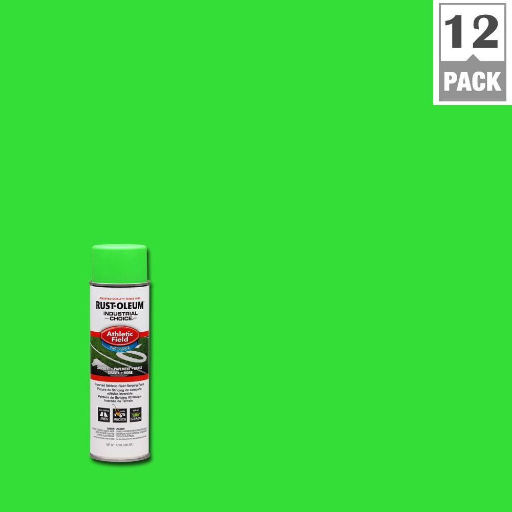17 oz. AF1600 System Athletic Field Fluorescent Green Striping Spray Paint