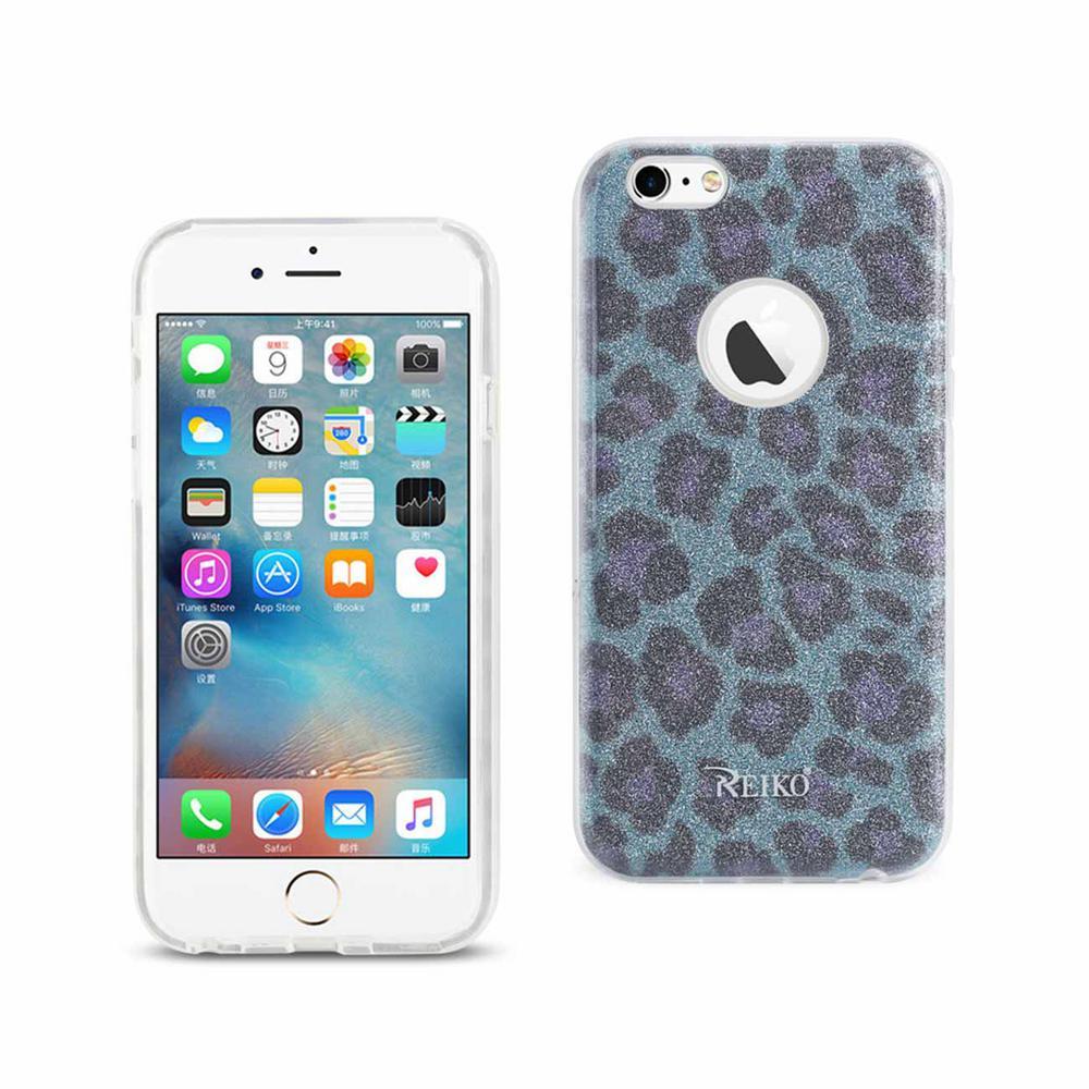 iPhone 6/6S Design Case in Leopard Blue