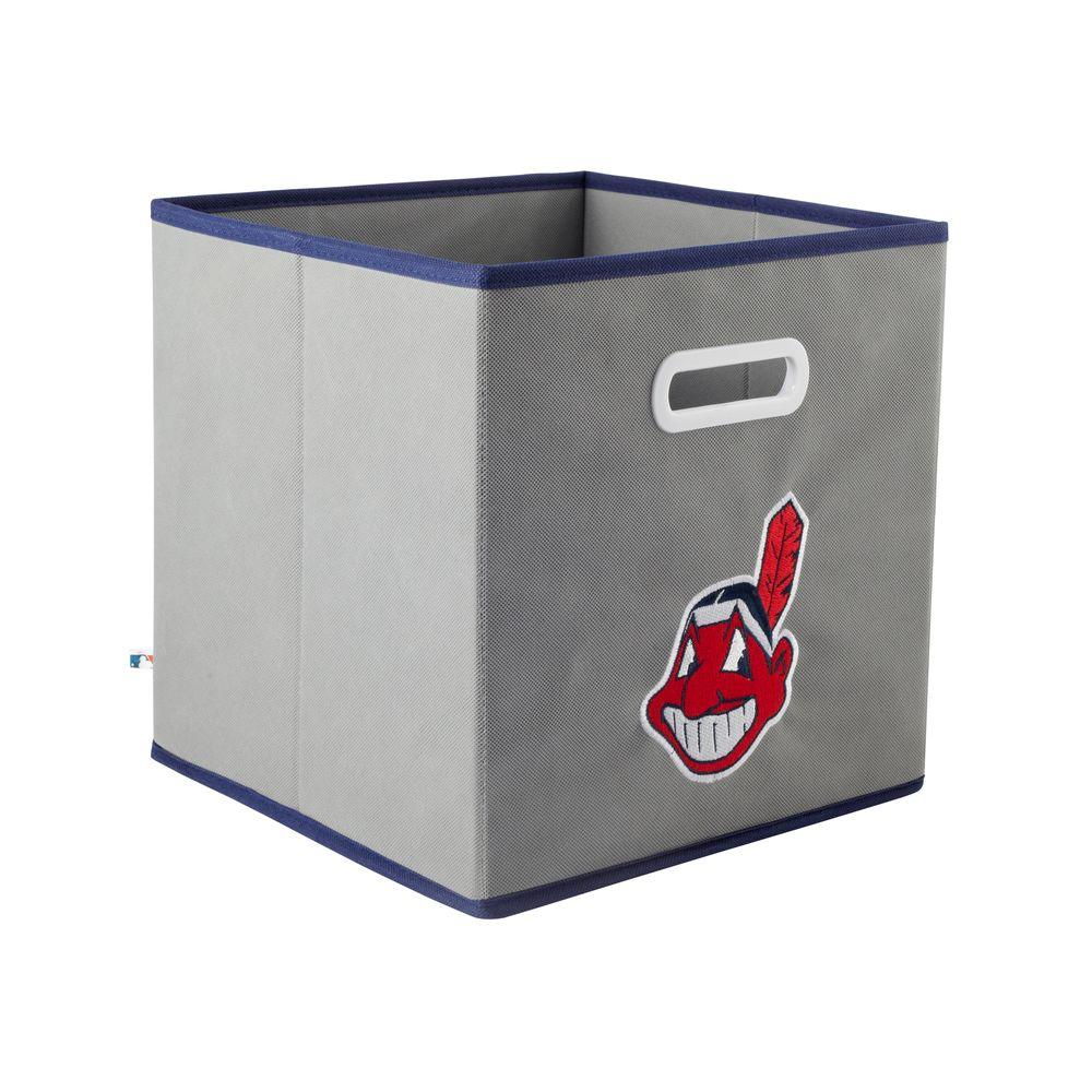 MyOwnersBox MLB STOREITS Cleveland Indians 10-1/2 in. x 10-1/2 in. x 11 in. Grey Fabric Storage Drawer