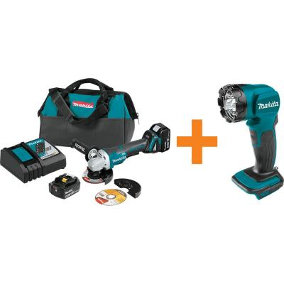18-Volt LXT Brushless 4-1/2 in./5 in. Paddle Switch Cut-Off/Angle Grinder Kit with bonus 18-Volt LXT L.E.D. Flashlight