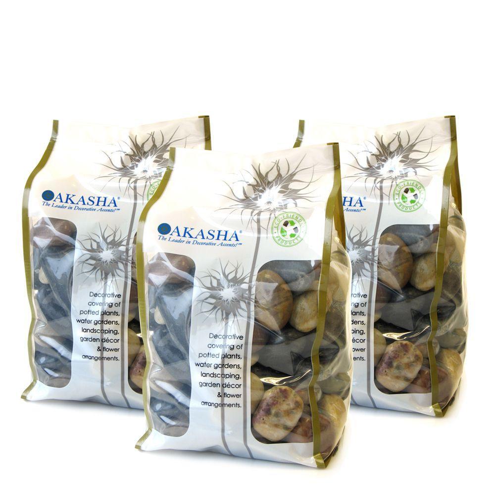 15 lb. Multi Standard River Rock Box Contains (3) 5 lb. Bags