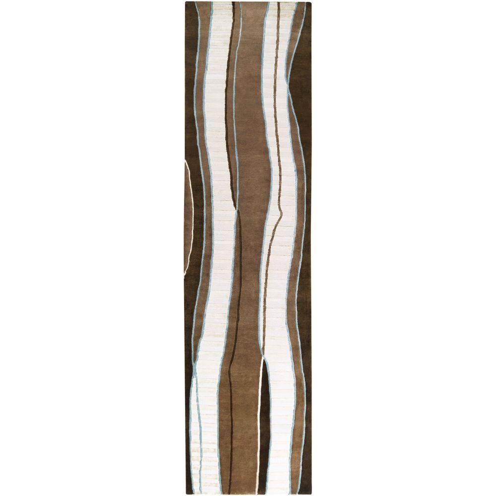 Elsinore Brown 2 ft. 6 in. x 10 ft. Runner
