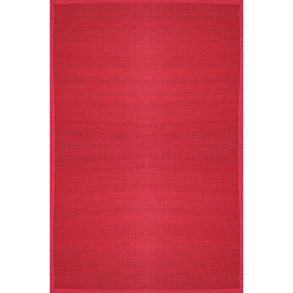 Anji Mountain Villager Crimson Red 5 ft. x 8 ft. Area Rug
