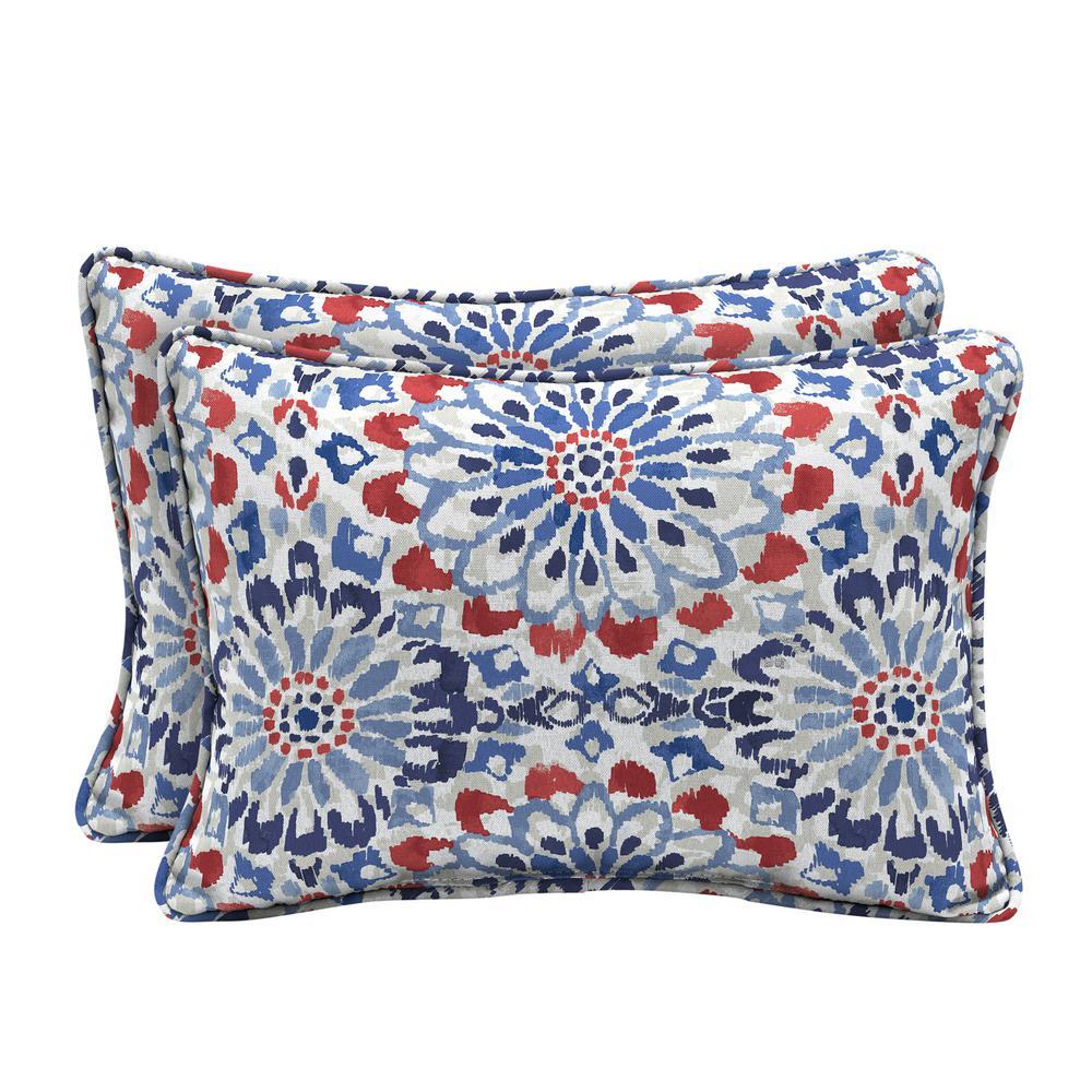 22 x 15 Clark Oversized Lumbar Outdoor Throw Pillow (2-Pack)