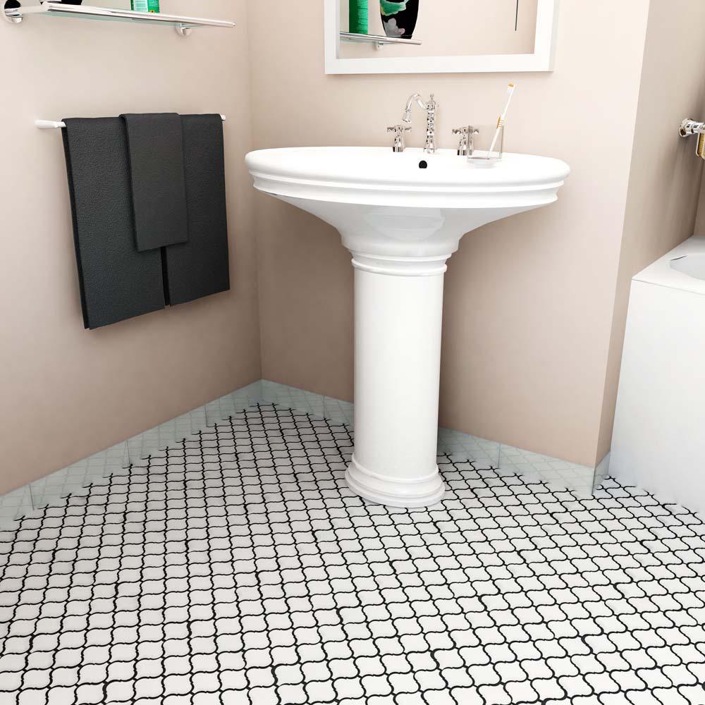 - Merola Tile Metro Lantern Glossy White 9-3/4 In. X 10-1/4 In. X 6 Mm  Porcelain Mosaic Tile-FDXMLGW - The Home Depot